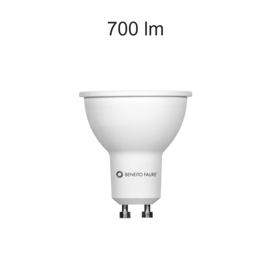Bombilla GU10 led regulable System 8w neutra Beneito Faure