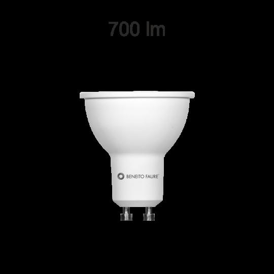Bombilla GU10 led regulable System 8w cálida Beneito Faure