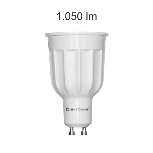 Bombilla GU10 led Power 12w fría Beneito Faure