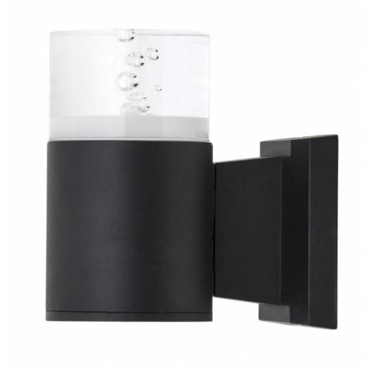 Aplique de exterior Cuba negro 9W LED 4000K Fabrilamp