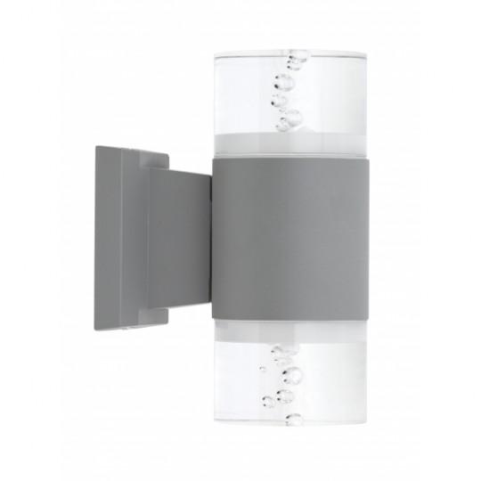 Aplique de exterior Cuba gris 18W LED 4000K Fabrilamp