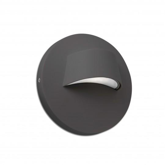 Aplique de exterior Brow gris oscuro Faro