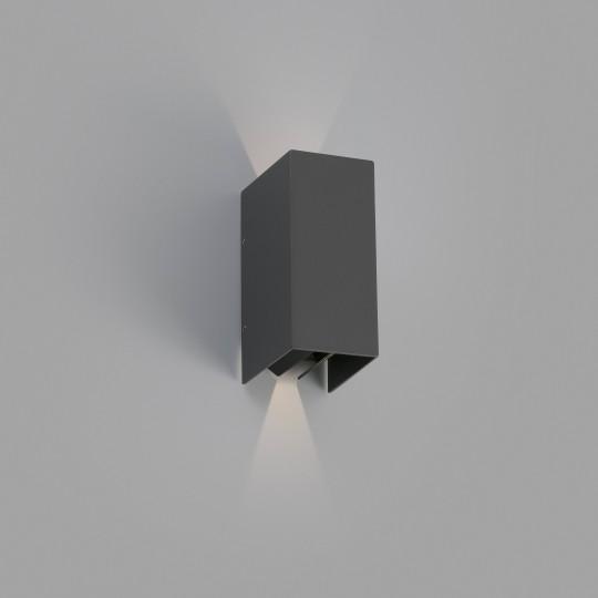 Aplique de exterior Blind gris oscuro Faro