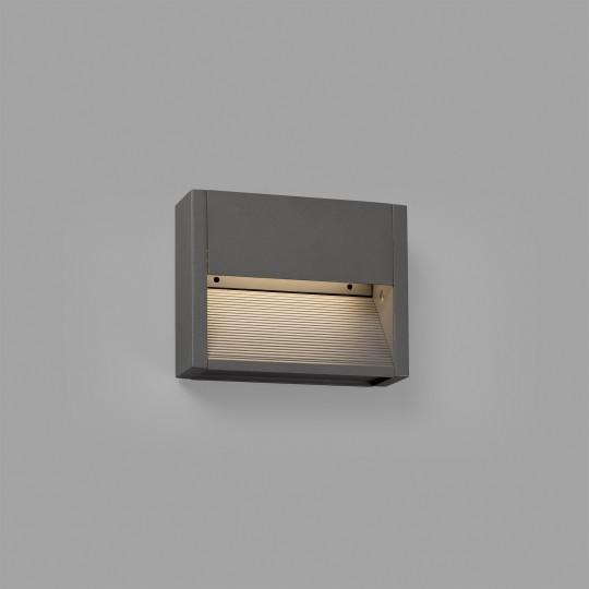 Aplique de exterior Grada-1 gris oscuro Faro