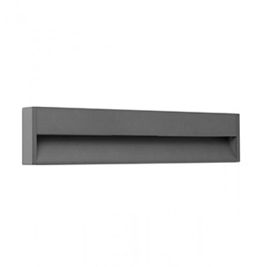 Aplique de exterior Grada-3 gris oscuro Faro