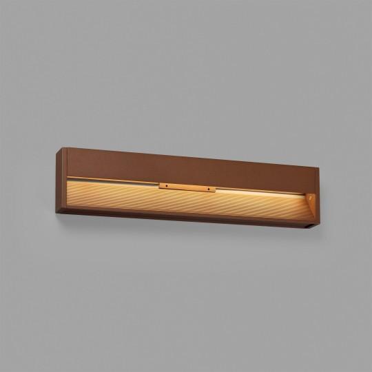 Aplique de exterior Grada-3 marrón Faro