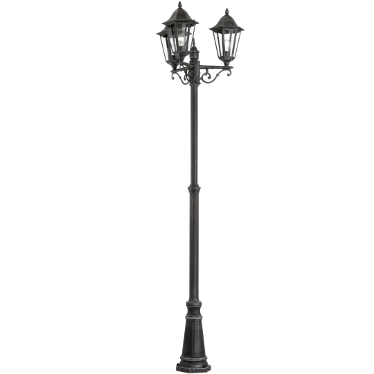 Farola 3 luces negro plata Navedo Eglo