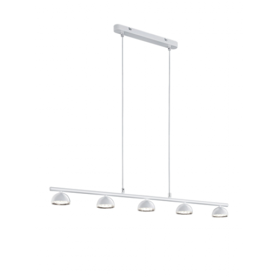 Barra suspension 5 focos led BOLOU Trio blanco