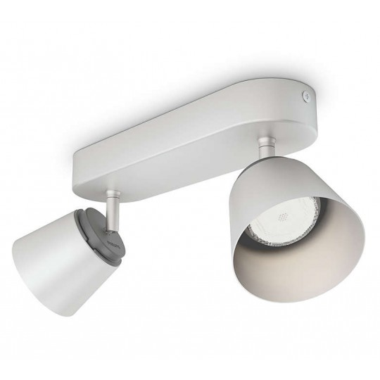 Barra 2 luces gris Dender Philips