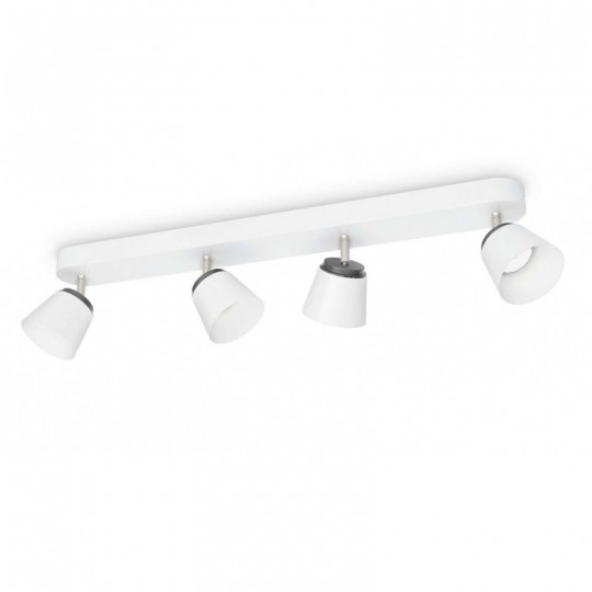 Barra 4 luces Dender blanco Philips