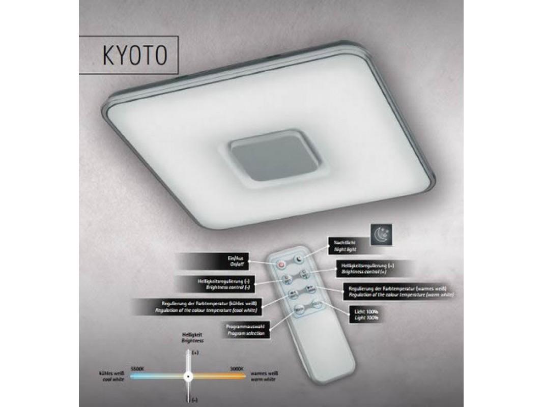 Juvi iluminaci n plafon de techo kyoto led 50w con mando - Plafon led techo ...
