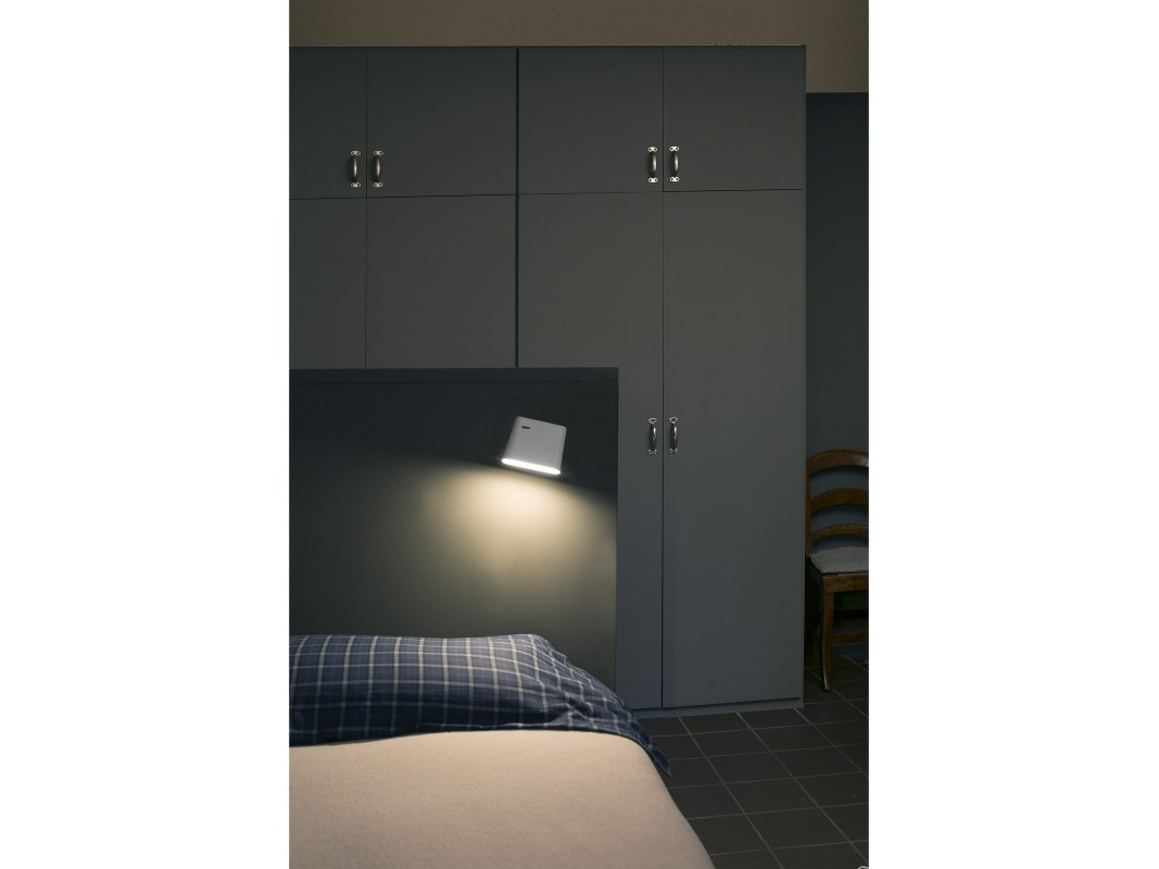 Juvi iluminaci n aplique blanco led aurea faro for Lamparas cabezal cama