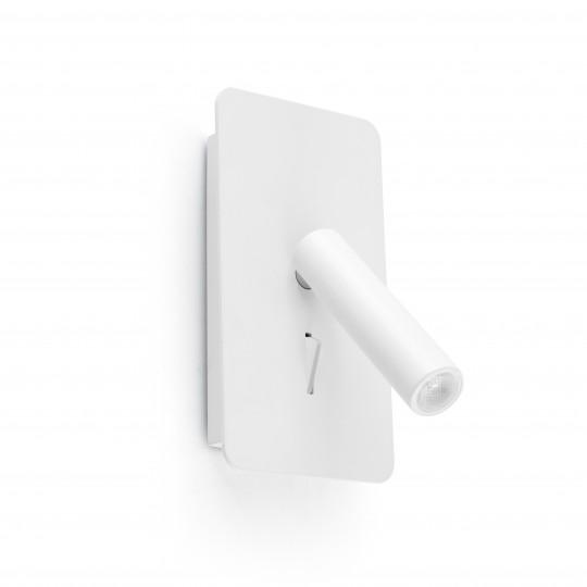 Aplique con USB Suau blanco Faro
