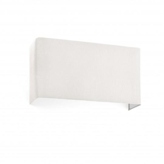 Aplique Cotton cuadrado horizontal dos luces beige Faro