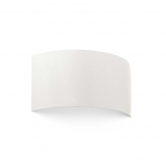 Aplique Cotton redondo horizontal dos luces beige Faro