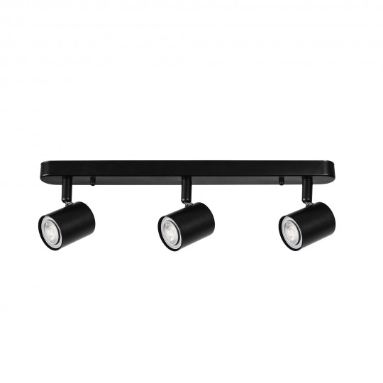 Aplique Keeper negro 3 luces Forlight