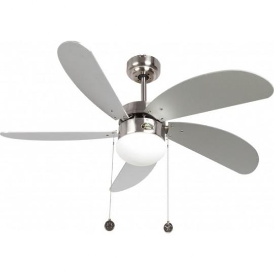 Ventilador 5 aspas Cibeles níquel/plata Fabrilamp