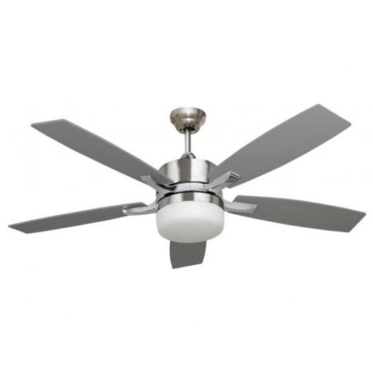 Ventilador 5 aspas Menfis níquel/haya/plata Fabrilamp