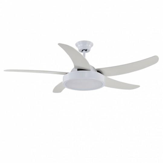 Ventilador 5 aspas Cauro blanco LED 36W 4000K Fabrilamp