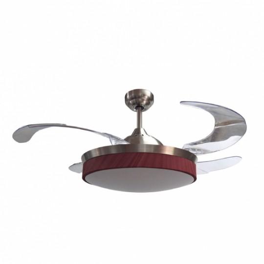 Ventilador Zonda cuero/cerezo LED 36w 3000/4000/6000K Fabrilamp