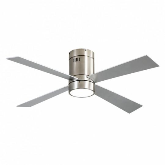 Ventilador 4 aspas Barine níquel LED 18W 3000/4000/6000k Fabrilamp