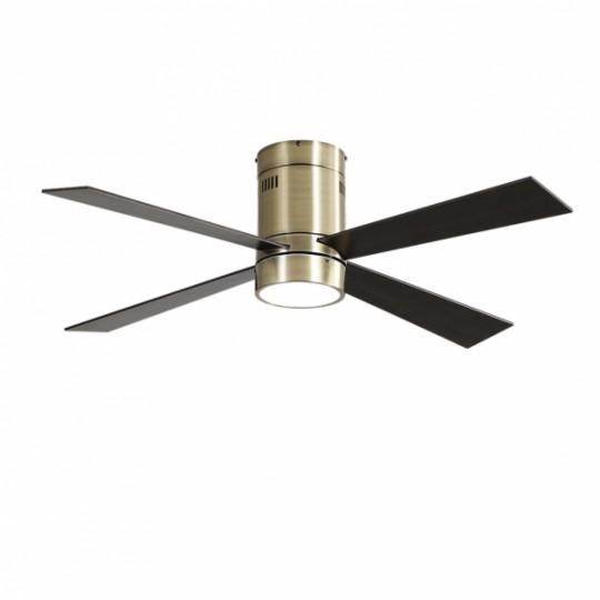 Ventilador 4 aspas Barine cuero LED 18W 3000/4000/6000k Fabrilamp