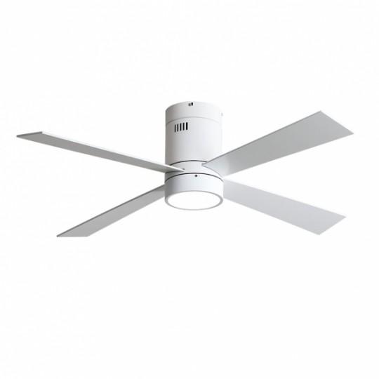 Ventilador 4 aspas Barine blanco LED 18W 3000/4000/6000k Fabrilamp