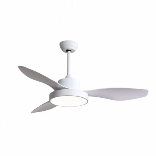 Ventilador 3 aspas Hayate blanco LED 40W 3000/4000/6000k Fabrilamp