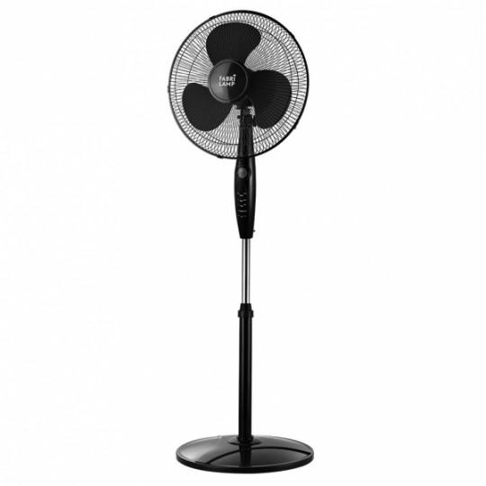 Ventilador de pie Inverna negro con mando Fabrilamp