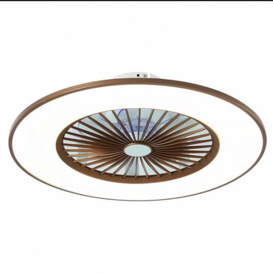 Ventilador Bofu café LED 48W 3000/4000/6000k Fabrilamp