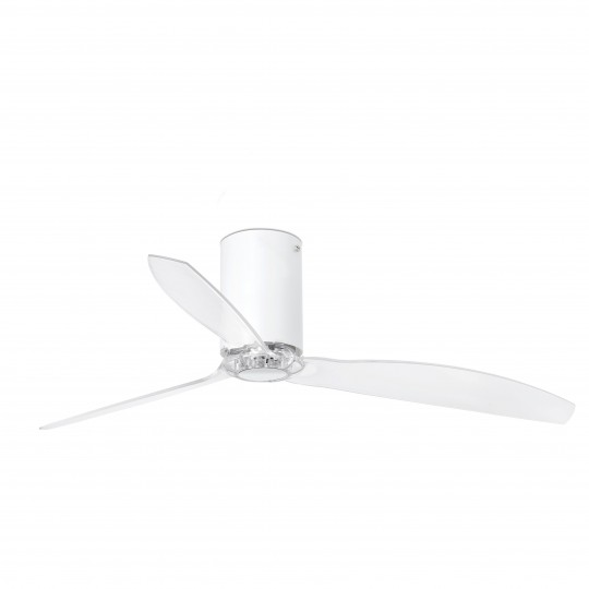 Ventilador motor DC MIni Tube blanco mate WIFI Faro