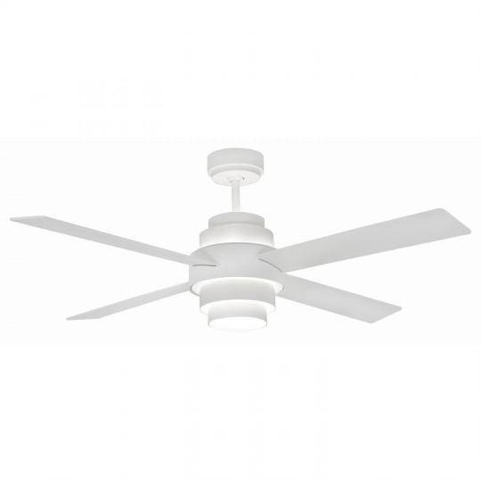 Ventilador DISC blanco con luz LED FARO