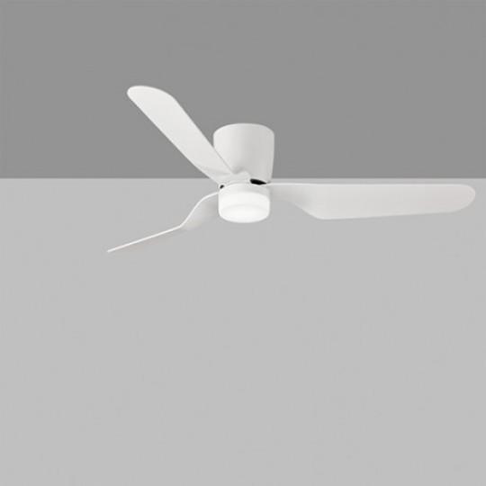 Ventilador blanco LED 15w c/mando motor dc