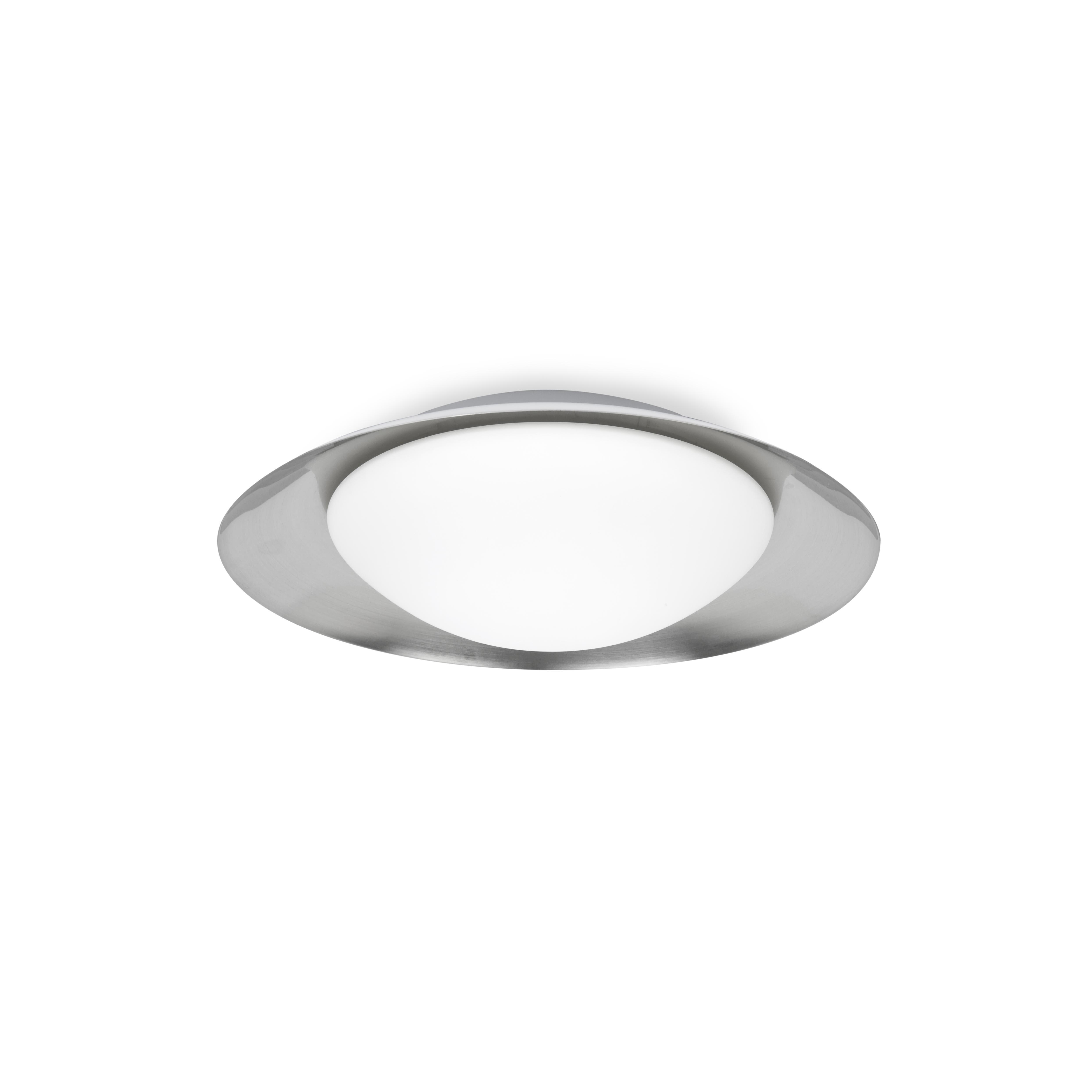 Juvi Iluminación - Plafón Side LED blanco y níquel 39cm Faro